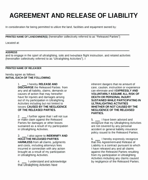 Liability Waiver form Template Free Inspirational Medical Liability Waiver Template Free Release form