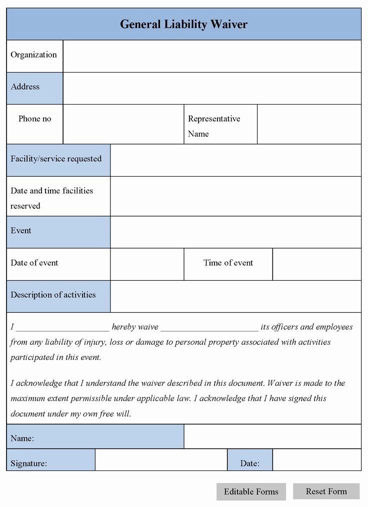 Liability Waiver form Template Free Lovely the 25 Best General Liability Ideas On Pinterest