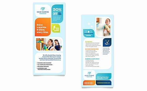 Library Card Template Microsoft Word Beautiful House Cleaning Service Rack Card Templates Word