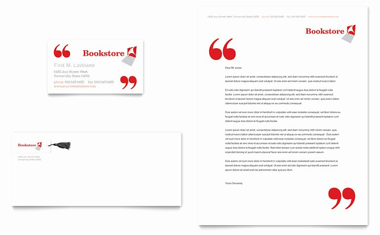 Library Card Template Microsoft Word Fresh Bookstore & Library Business Card & Letterhead Template
