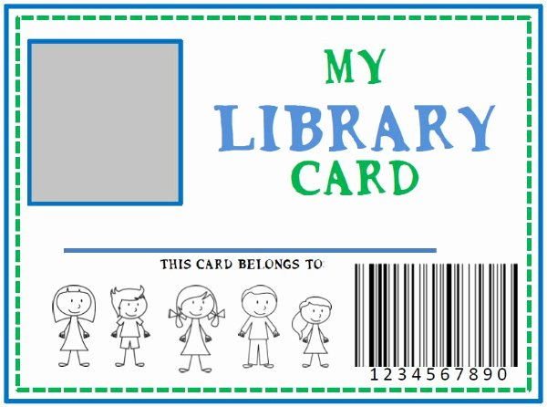 Library Card Template Microsoft Word Inspirational Family Library Diy Pretend Library Card