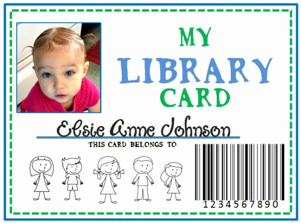 Library Card Template Microsoft Word Lovely Family Library & Diy Pretend Library Card She Kristina