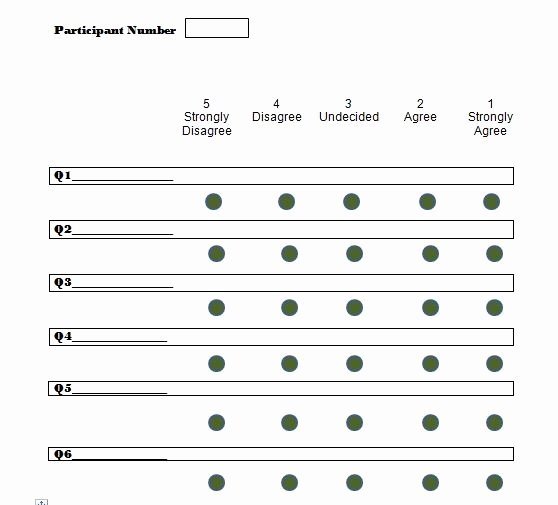 Likert Scale Survey Template Best Of 30 Free Likert Scale Templates & Examples Free Template