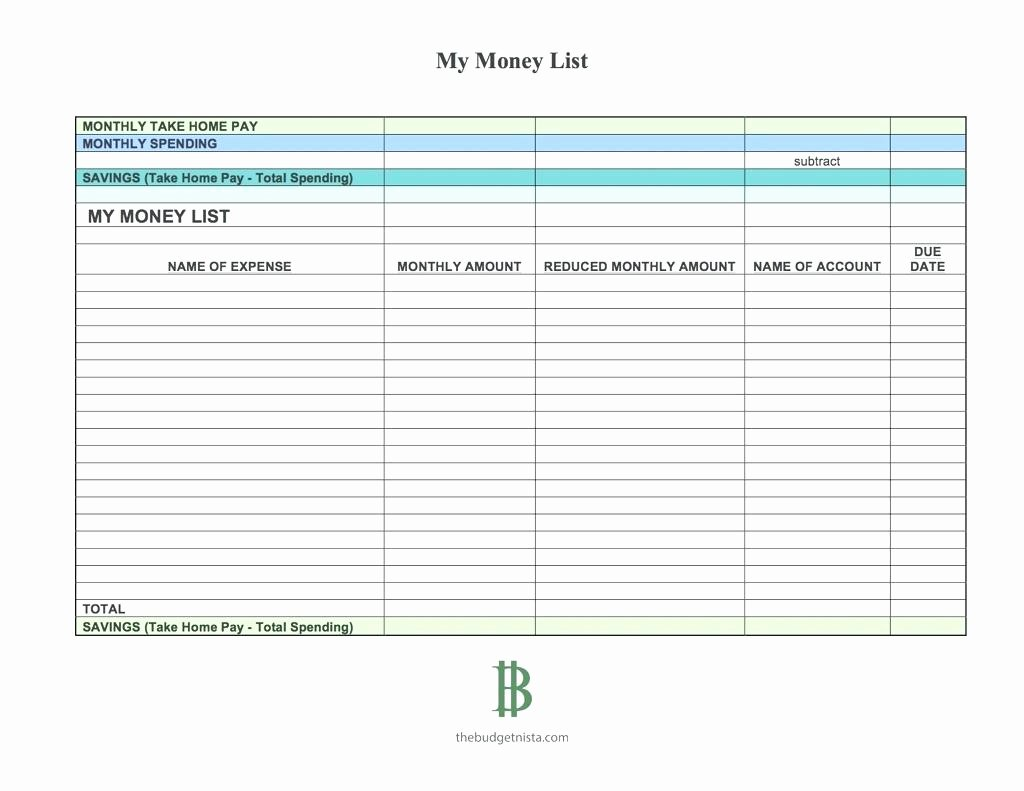 List Of Monthly Expenses Template Best Of Template List Monthly Expenses Template