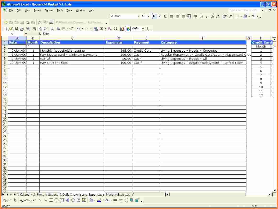 List Of Monthly Expenses Template Inspirational 9 Monthly Expense Spreadsheet Template