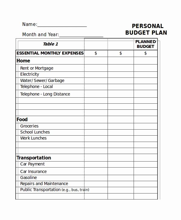 List Of Monthly Expenses Template Unique 21 Excel Monthly Bud Templates