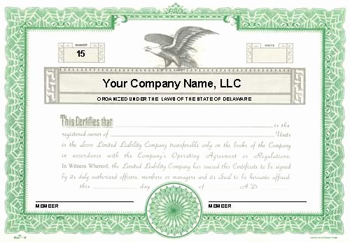Llc Member Certificate Template Elegant Custom Printed Certificates Limited Liability Pany