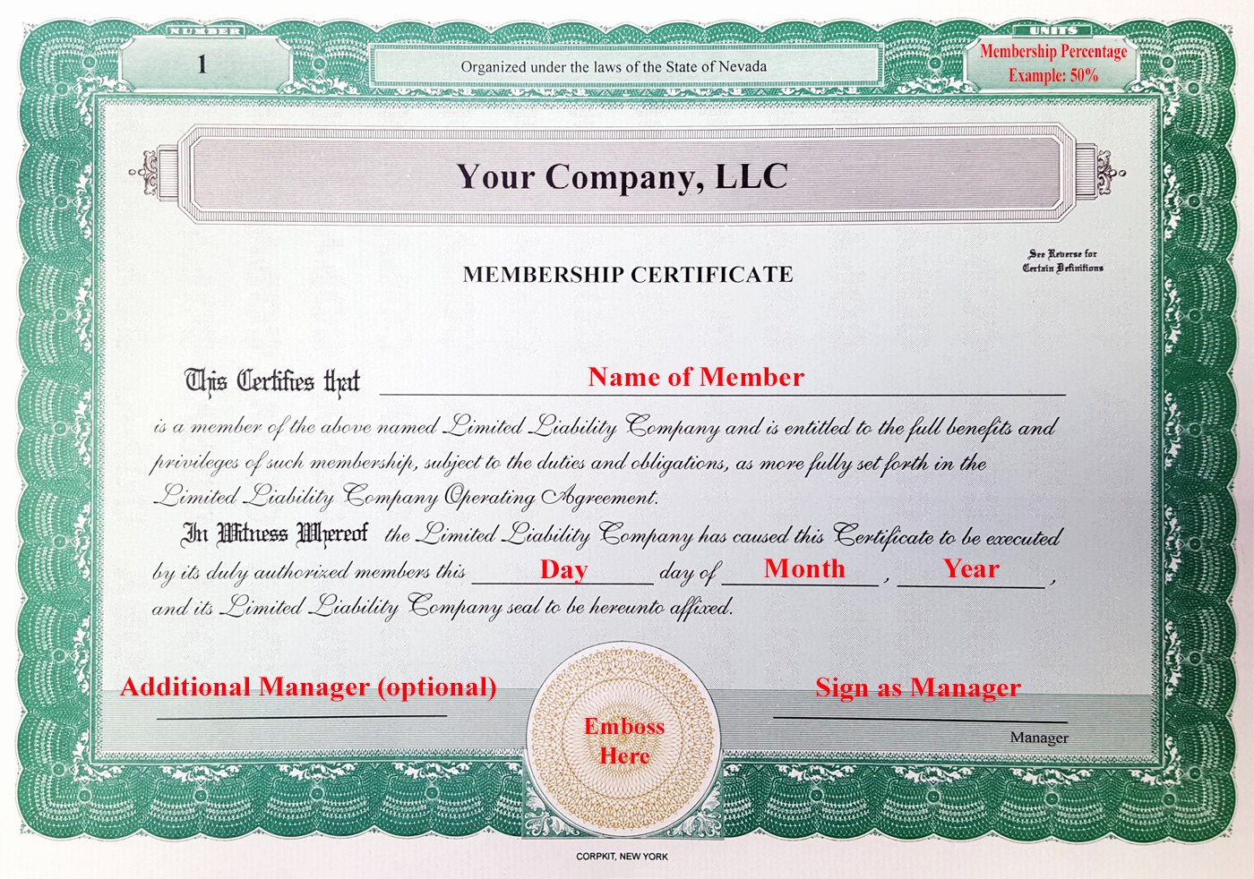 Llc Member Certificate Template Inspirational Laughlin associates Inc