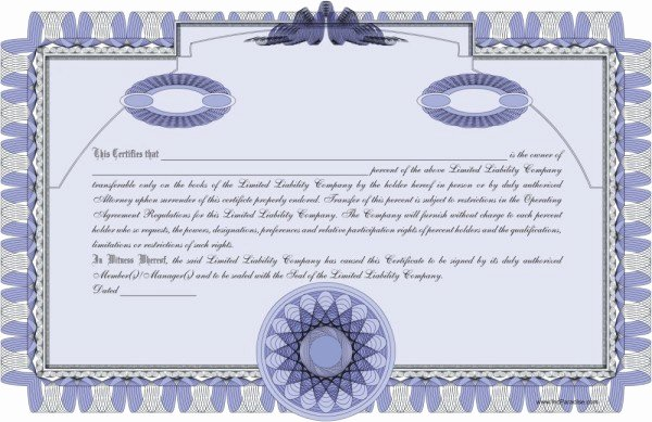 Llc Member Certificate Template Inspirational Llc Member Certificate Template Llc Member Certificate