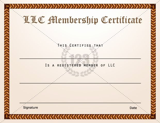 Llc Member Certificate Template Inspirational Membership Certificate Templates Best Quality Llc Free