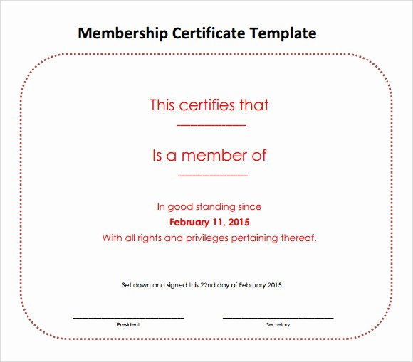 Llc Member Certificate Template Luxury Membership Certificate Template 15 Free Sample Example