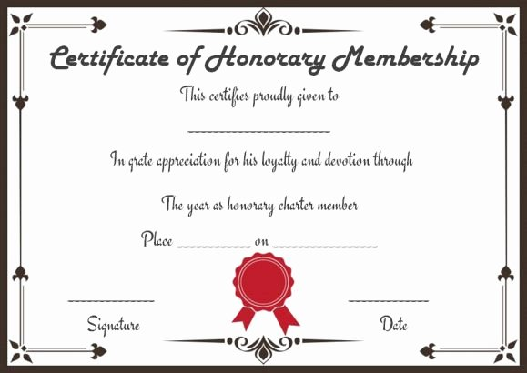 Llc Member Certificate Template New Free Membership Certificates 14 Templates In Word format