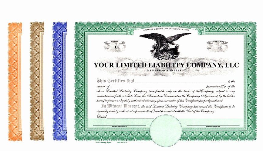 Llc Membership Certificate Template Awesome Limited Liability Pany Certificates