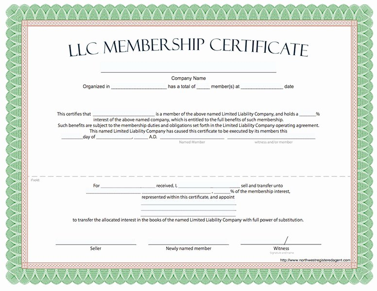 Llc Membership Certificate Template Awesome Llc Membership Certificate Free Limited Liability