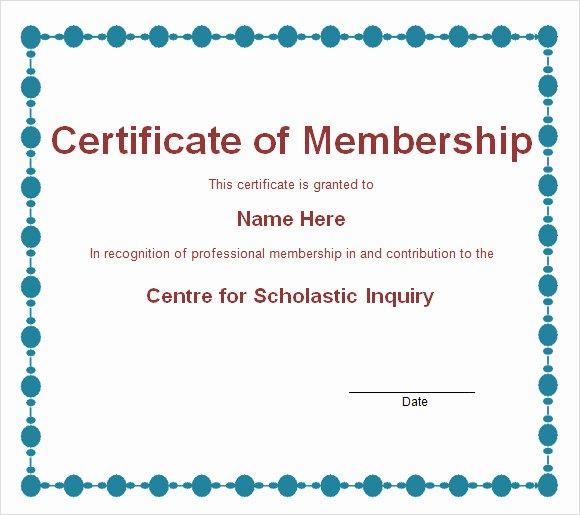 Llc Membership Certificate Template Elegant 15 Membership Certificate Templates – Free Samples
