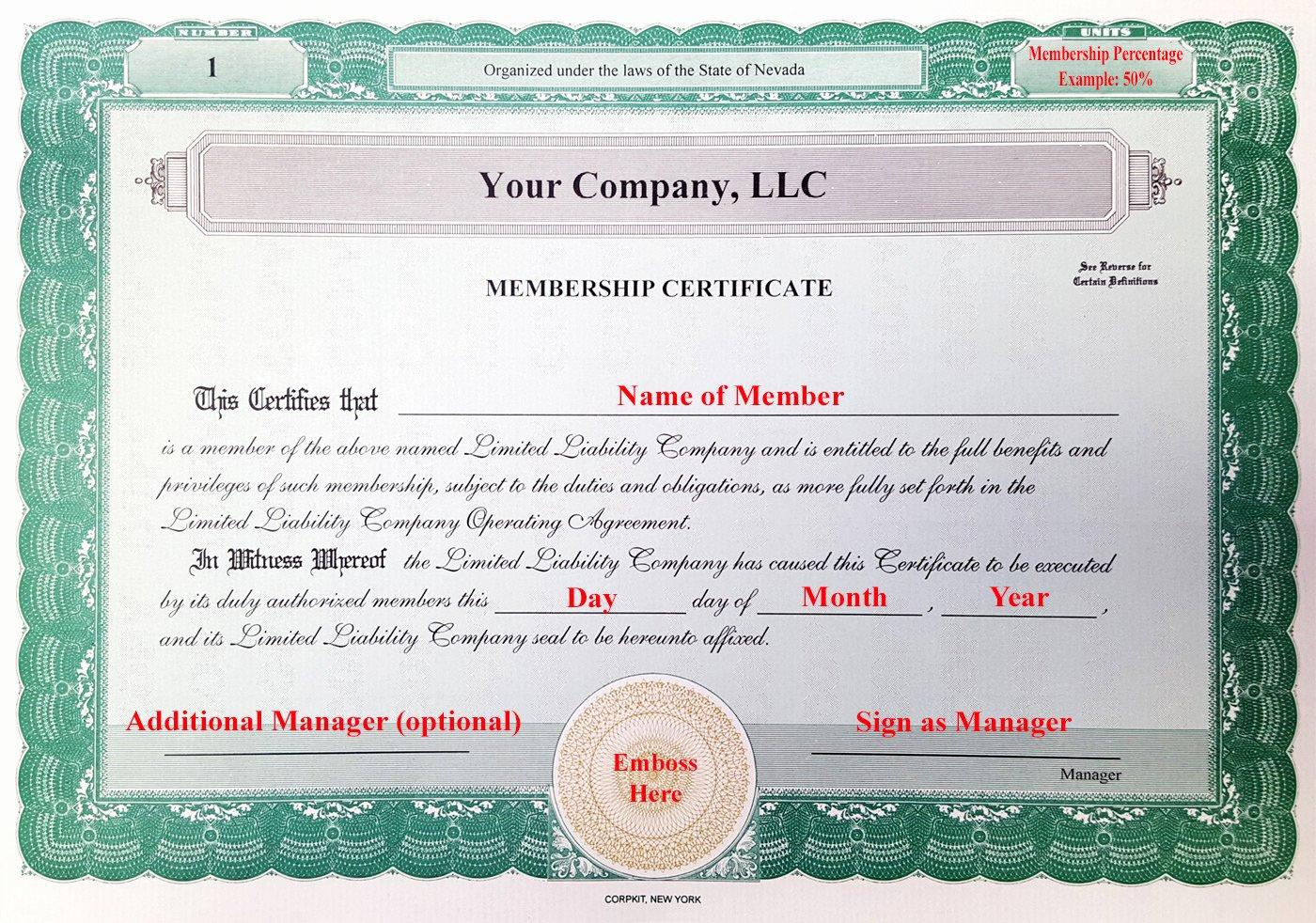 Llc Membership Certificate Template Inspirational Laughlin associates Inc