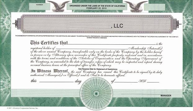 Llc Membership Certificate Template Inspirational Should We issue Llc Membership Certificates the High