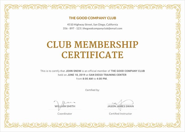 Llc Membership Certificate Template Luxury 23 Membership Certificate Templates Word Psd In
