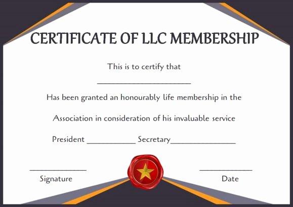Llc Membership Certificate Template New Free Membership Certificates 14 Templates In Word format