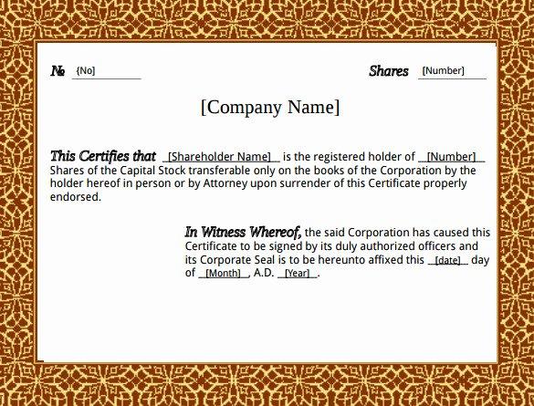 Llc Stock Certificate Template Elegant 23 Stock Certificate Templates Psd Vector Eps