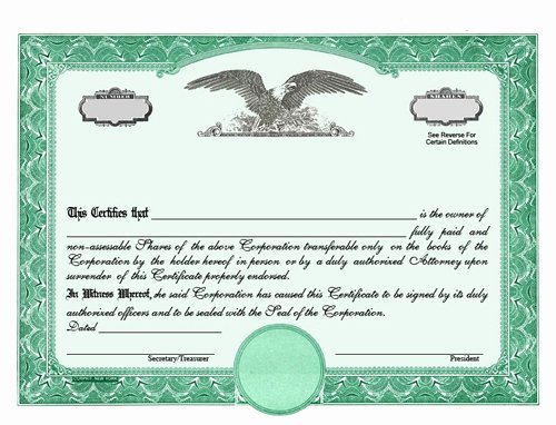 Llc Stock Certificate Template Inspirational Stock Certificates Llc Certificates Certificates