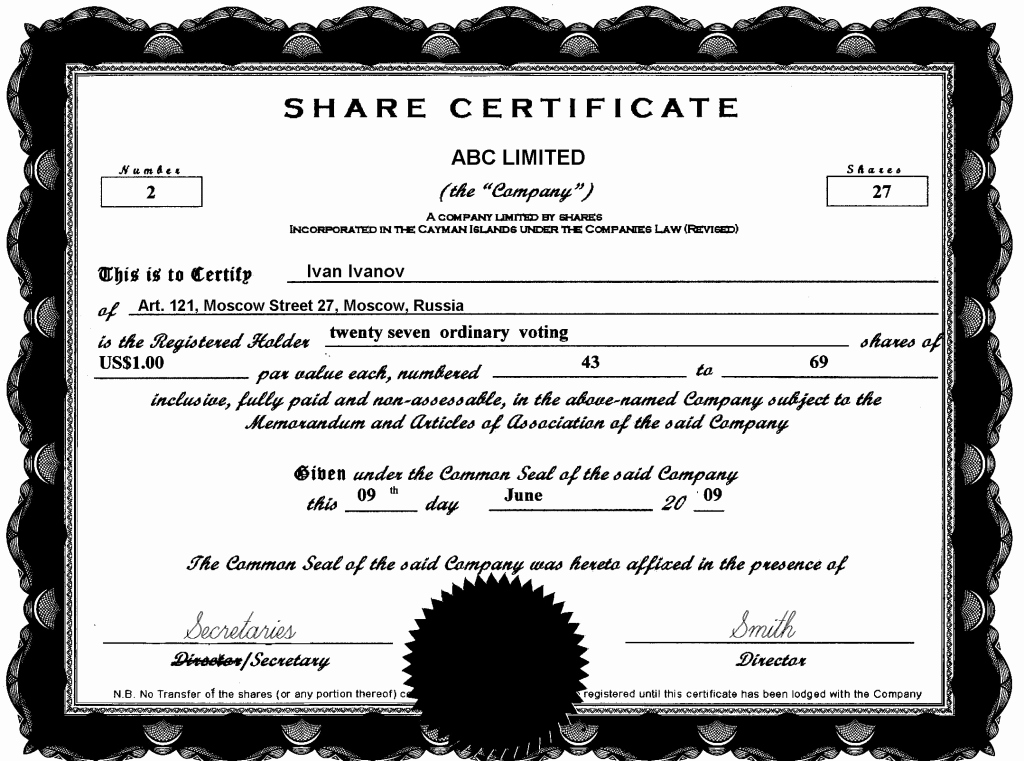 Llc Stock Certificate Template Lovely 13 Stock Certificate Templates Excel Pdf formats