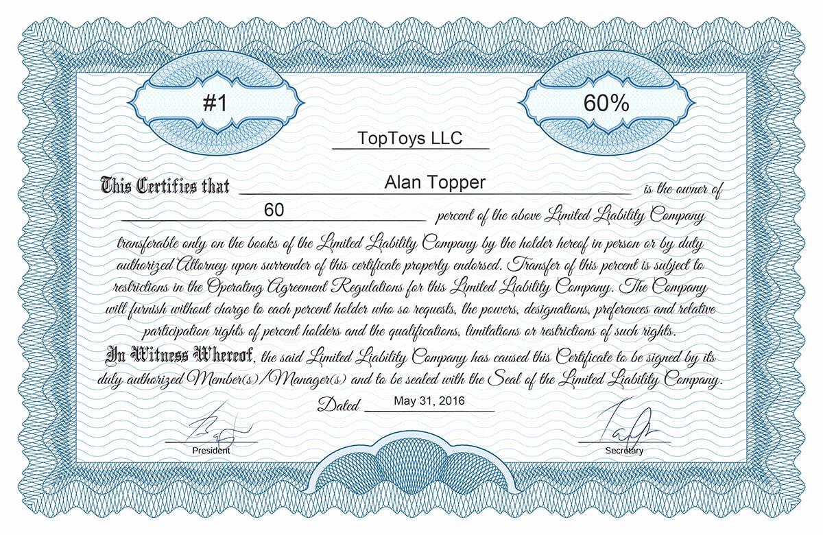 Llc Stock Certificate Template Luxury Blank Free Mon Stock Certificate Template Microsoft