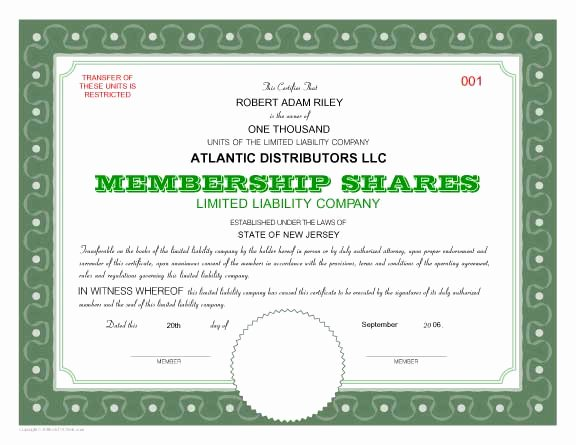 Llc Stock Certificate Template New 7 Best Of Fill Out Certificates How Fill Out