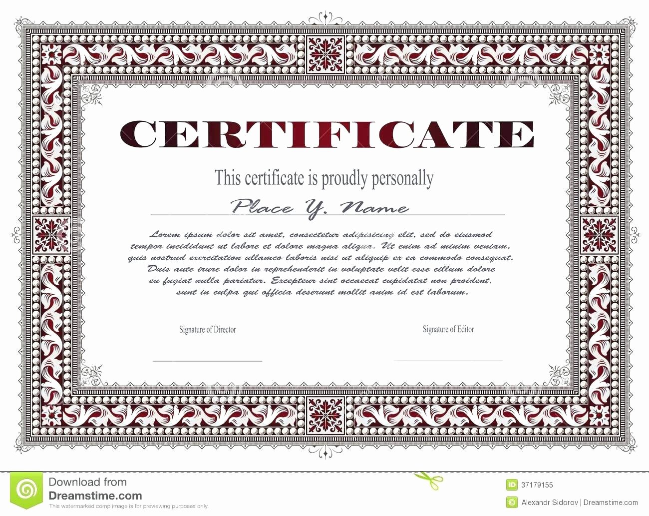 Llc Stock Certificate Template New Template Corporation Stock Certificate Template