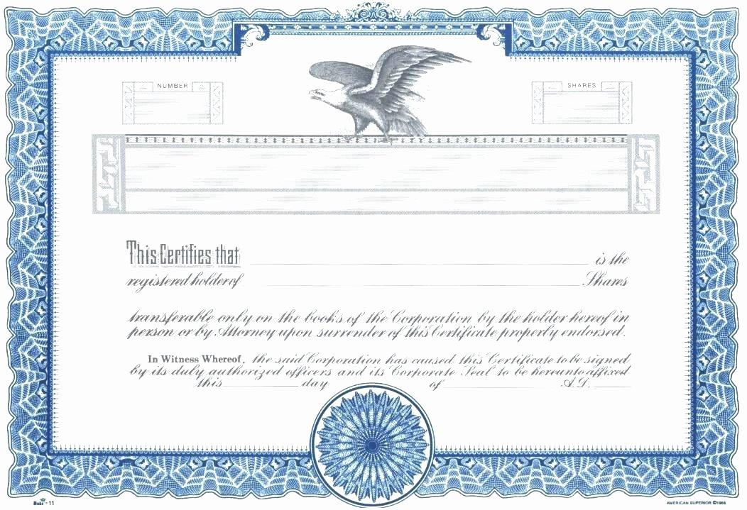 Llc Stock Certificate Template Unique top Result Stock Certificate Template Word Lovely 4 Free