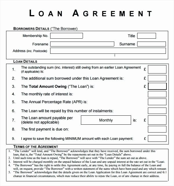 Loan Agreement Between Friends Template Inspirational Business Loan Agreement form Letter Awesome and Template