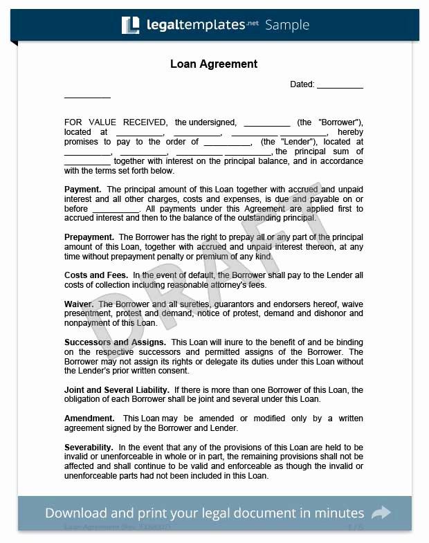 Loan Agreement Between Friends Template Luxury Create A Loan Agreement