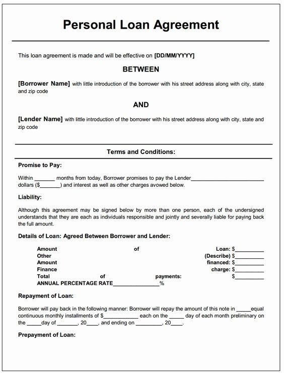 Loan Agreement Between Friends Template Luxury Loan Agreement Letter