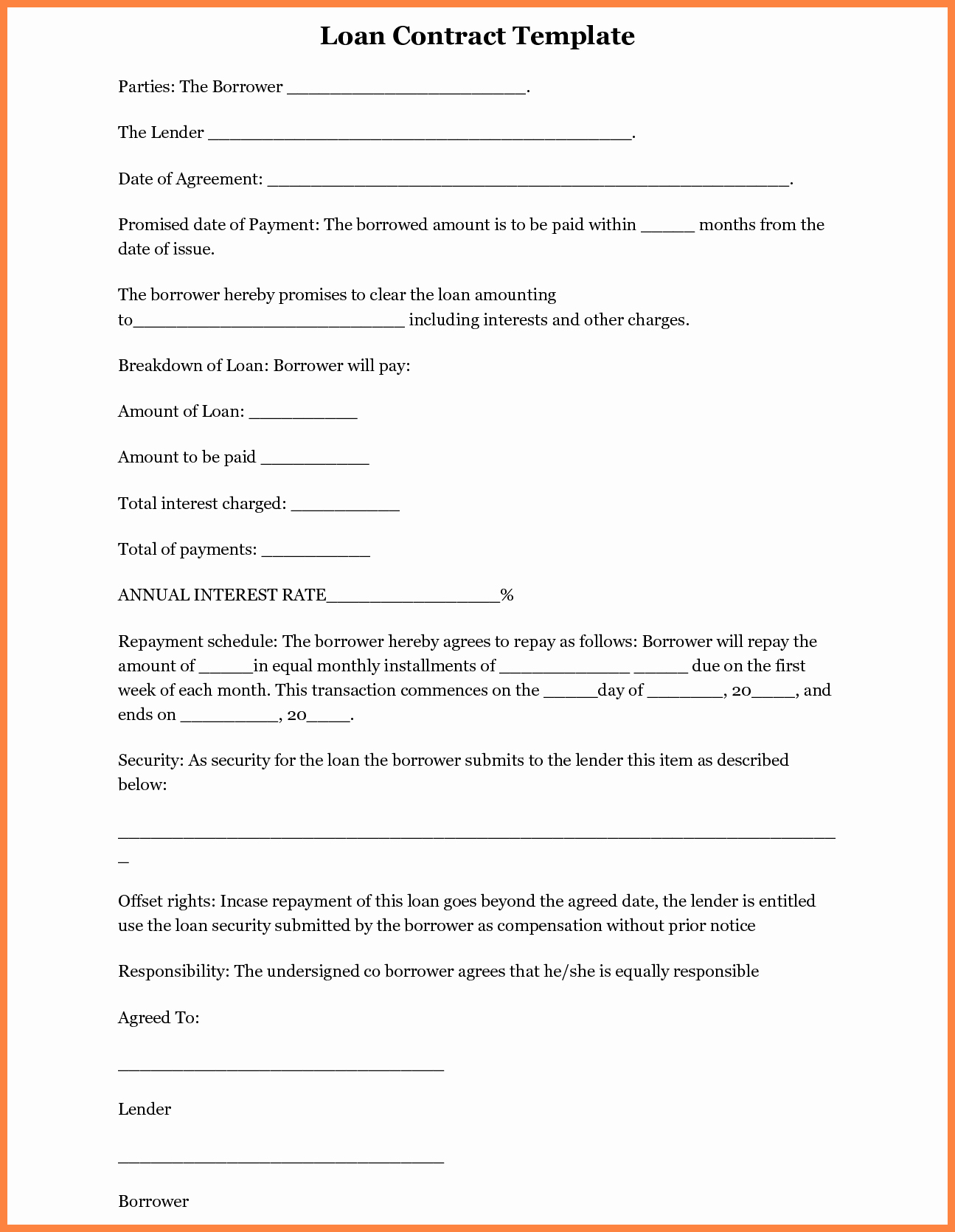 Loan Agreement Template Free Awesome 5 Inter Pany Loan Agreement Template