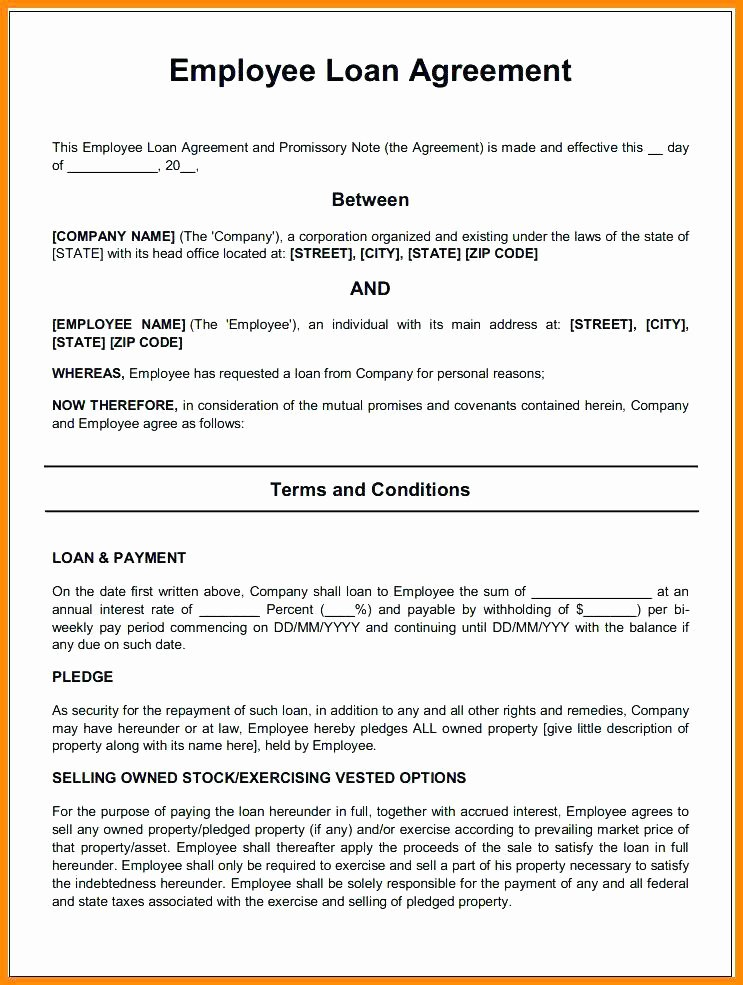 Loan Agreement Template Free Inspirational Awesome Business Loan Document Template Inspiration