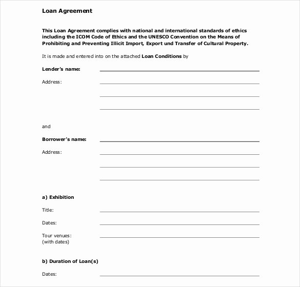 Loan Agreement Template Pdf Beautiful 28 Loan Contract Templates – Pages Word Docs