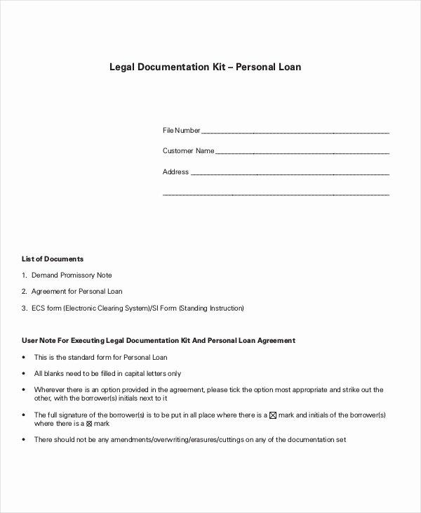 Loan Agreement Template Pdf Beautiful Loan Agreement Template 17 Free Word Pdf Document