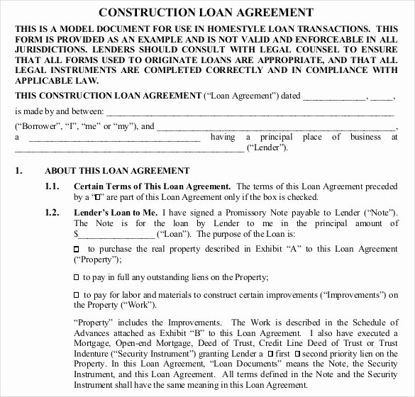 Loan Agreement Template Pdf Luxury Loan Contract Template – 20 Examples In Word Pdf