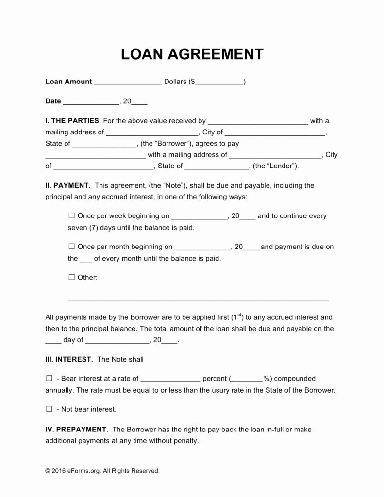 Loan Contract Template Free Fresh Loan Contract Template Beepmunk
