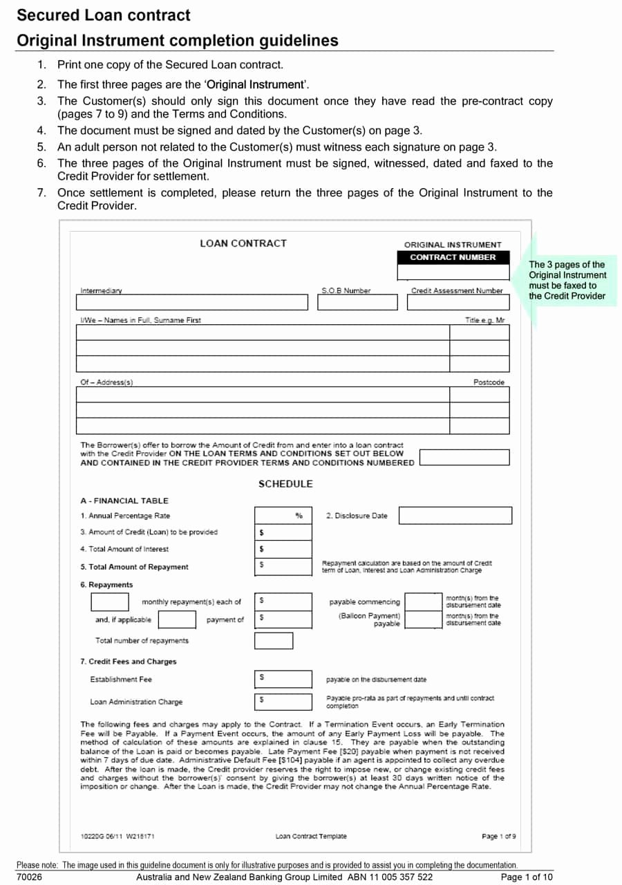Loan Document Template Free Fresh 40 Free Loan Agreement Templates [word & Pdf] Template Lab