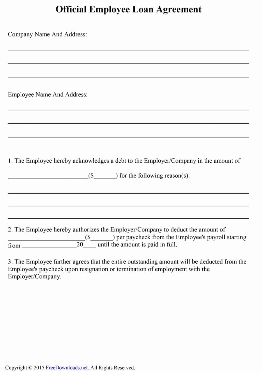 Loan Document Template Free Lovely 40 Free Loan Agreement Templates [word & Pdf] Template Lab