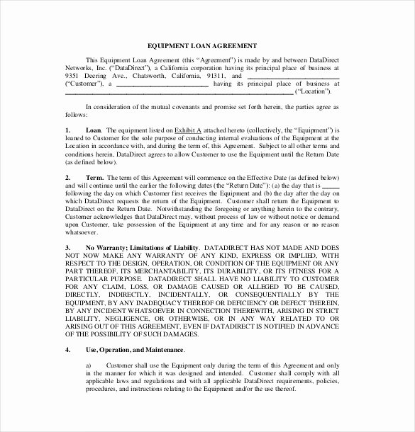 Loan Document Template Free Unique 18 Loan Agreement Templates – Free Word Pdf format