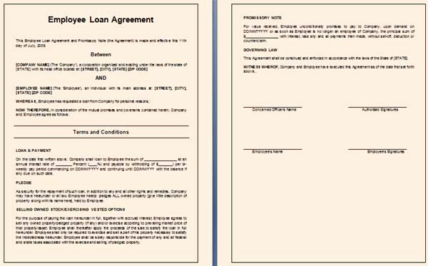 Loan Repayment Document Template Beautiful Free Employee Loan Agreement Templates Download Free