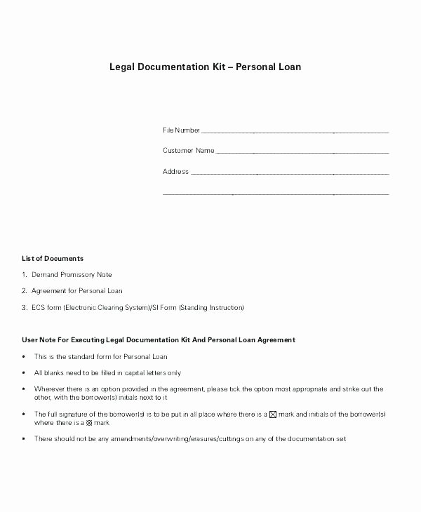 Loan Repayment Document Template Elegant Free Printable Personal Loan Contract form Generic