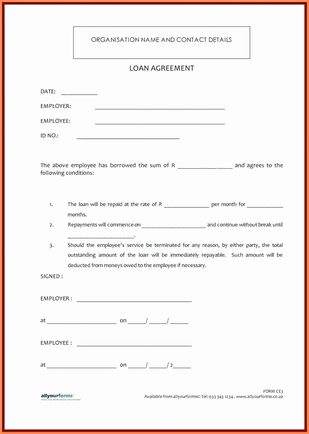 Loan Repayment Document Template Lovely Template Loan Agreement Letter Template