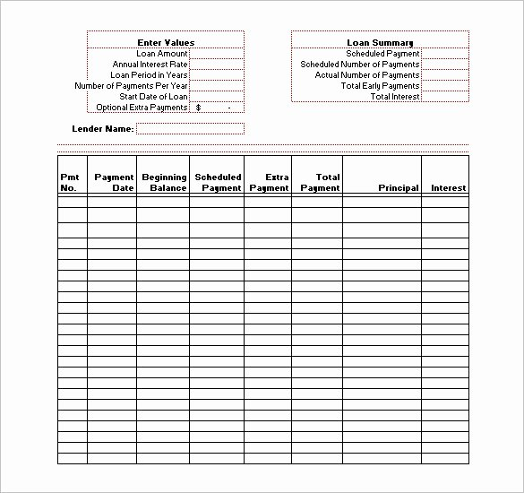 Loan Repayment Document Template Luxury Amortization Schedule Templates – 10 Free Word Excel