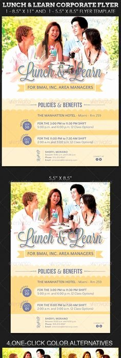 Lunch and Learn Invite Template Beautiful Lunch and Learn Flyer Templates