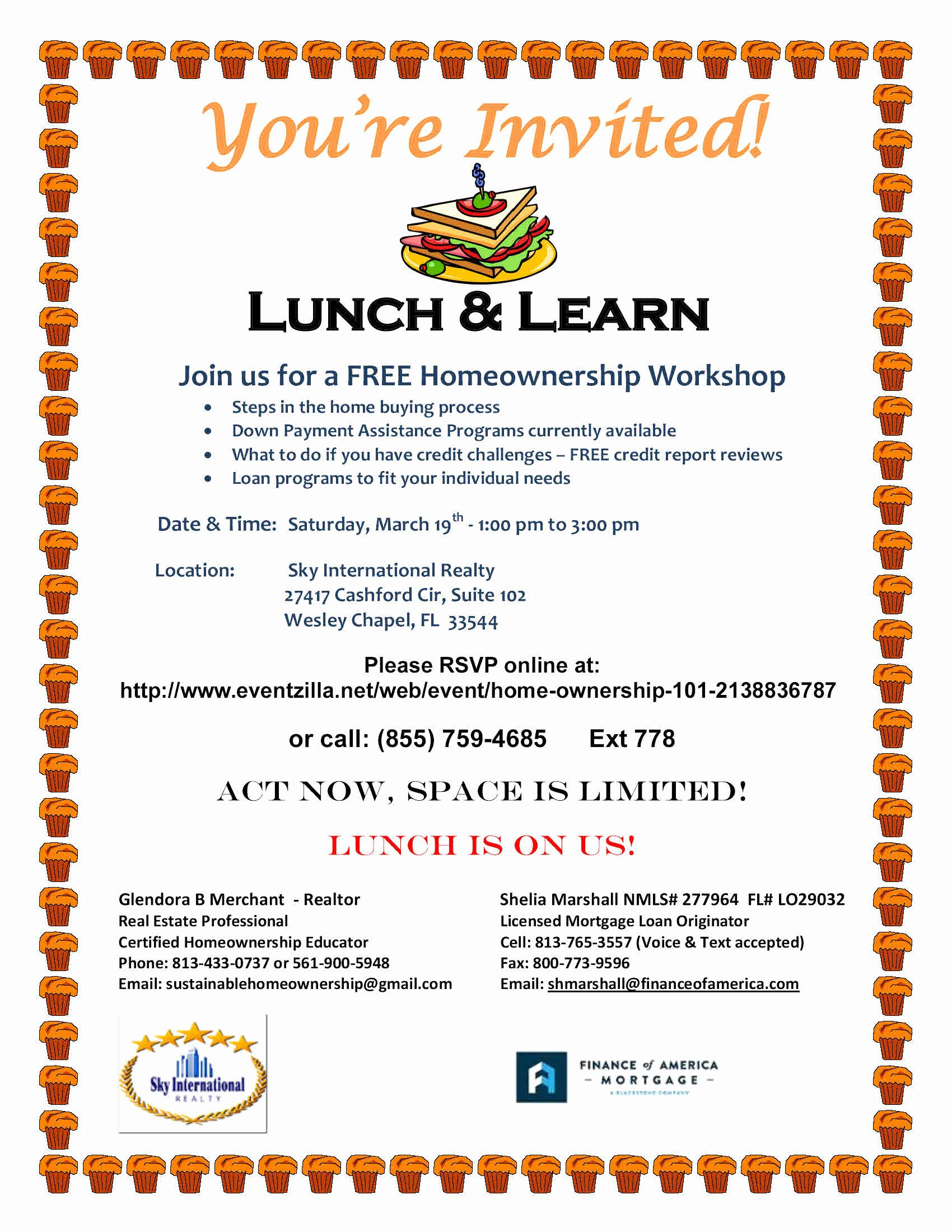 Lunch and Learn Invite Template Elegant Real Estate Education and Seminars