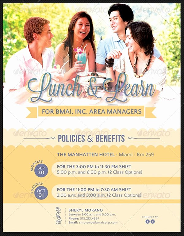 Lunch and Learn Invite Template Inspirational 14 Lunch Flyer Templates