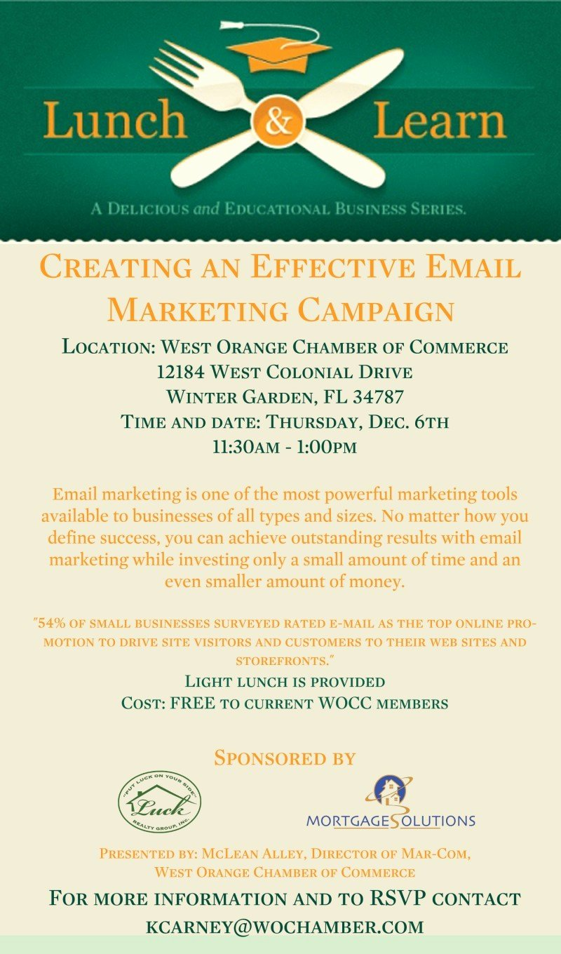"Lunch and Learn Invite Template Inspirational Lunch and Learn ""creating An Effective Email Marketing"